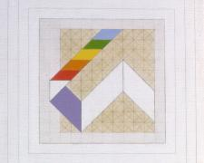 Prism #5, 1975, acrylic, graphite on canvas, 20 x 20""