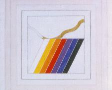 Prism #8, 1973, acrylic, graphite on canvas, 20 x 20""