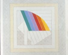 Sail #1, 1974, acrylic, graphite on canvas, 20 x 20""