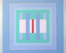 Square Symmetry #4, 1973, acrylic, graphite on canvas, 20 x 20""