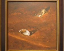 "Snipe, 1976, acrylic on masonite, i.s. 13 1/2 x 13 1/2""/f.s. 18 1/2 x 18 1/2"""