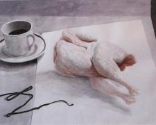 "Olympia, 2014, acrylic on paper, i.s. 12 3/4 x 18 3/4"""