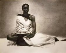"""First Morning, 2017, charcoal, s.s. 50 x 38"""""""