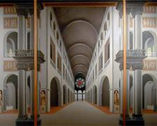 St. Libby Basilica 2006 Oil on canvas 36 x 73""