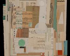 "Gravitas, 2013, paper, acrylic, graphite, f.s. 14 1/4 x 14 1/4"" / i.s. 11 x 11"""