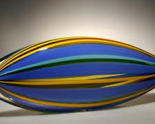 Piscine, 2012, blown glass, cane, 18 1/2 x 6 1/2 x 3""