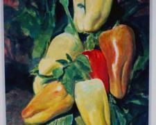 "Peper Bells, 1994, acrylic on paper, 12 x 10"""