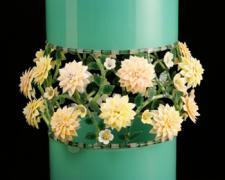 "Jade Cylinder - Tacoma Series, 2012, blown, lampwork, 14 3/4 x 11"""