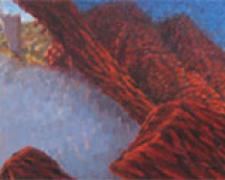 Can you see me, can you hear me? 2004 Oil on wood 15 x 60""