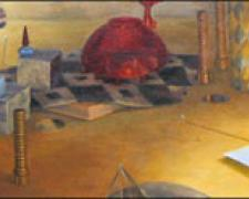 Unavoidable Outcome 2007 Oil on wood 61 x 14 1/2""