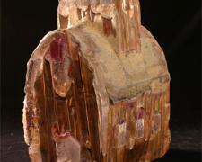 First Light Barn, 2007, sand cast glass, 11 x 8 x 5""