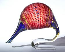 Torrid Intrepid Throb, 2003, glass, 18 x 22 x 11""