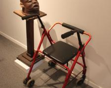 Satellite Singer 2013 Wooden head, MP3 player and audio, medical walker, stand
