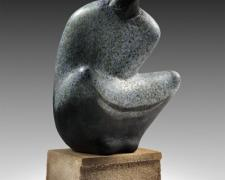 Balance 2013 blown hot sculpted glass, limestone 13 x 6 x 6""
