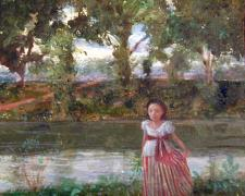 "River Study, 2006, acrylic on panel, 8 x 8"""
