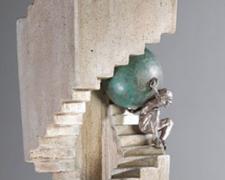 """Helix Operandi 2006 Bronze, steel, cement 25 x 7 x 7"""""""