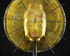 Brilliant Gold Buddha Burst, 2012, cast glass, 27 x 22 x 9""