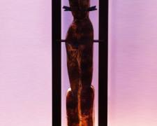 Metallic Lady Cecile, 2012, sandcast glass, steel, 56 x 10 x 6""