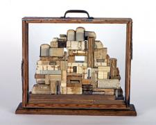 The Lost Library 2008 Assemblage 15 1/2 x 18 x 4 3/4""