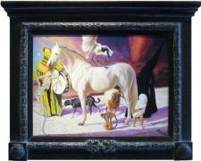 "Samana Santa, 2009, acrylic on panel, 27 1/2 x 34 1/2"""