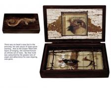 "Emily Dickinson's Herbarium, 2011, assemblage, 6 x 9 1/2 x 2"""