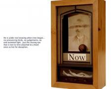 "Memento Mori, 2011, assemblage, 12 1/2 x 7 1/2 x 4"""