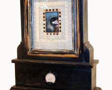 "Pi, Prayer and Pressure, 2004, mixed media, 27 x 21 x 8"""
