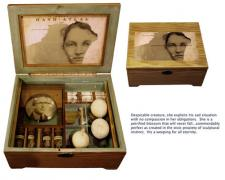 """Teilhard's Last Dream, 2011, assemblage, 10 x 13 x 6"""""""