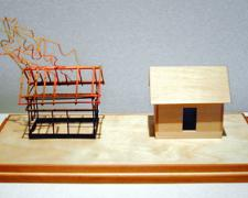 My House is Your House 2003 Mixed media construction 7 x 13 x 7""