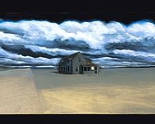 Lesson in Perspective 2002 Mixed media construction 16 x 48 x 4""