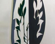 Shadow Land, 2013 painted steel 57 1/2 x 17 x 17""