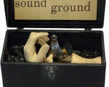 """Sound Ground, 2018, assemblage, 8 x 10 1/2 x 4"""""""
