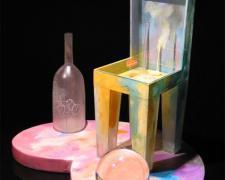 """Desert Optics, 2005, cast, blown, assembled, 19 x 21 x 16"""""""