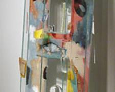 """Pacific, 2000, assembled, blown, cast, and painted glass, 78 x 18 x 6"""""""