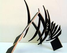 Sword Dance, 2013, patinated bronze, 20 1/4 x 30 1/2 x 19""