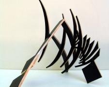 """Sword Dance, 2013, patinated bronze, 20 1/4 x 30 1/2 x 19"""""""