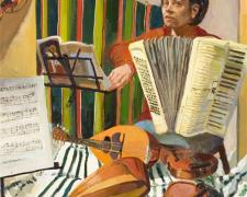 "Donde estas corazón, 2005-2006, oil on canvas, 30 x 30"""