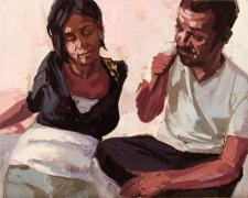 "Gestures #2, 2009, oil on panel, 9 x 12"""