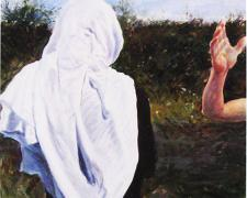 "Noli Mi Tangere, 2014, acrylic on paper, i.s. 18 3/4 x 12 3/4"""