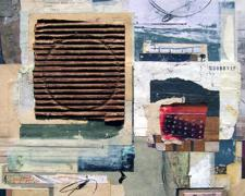 to the second, 2008, mixed media collage, 19 1/4 x 14""
