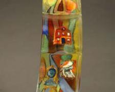 Dreaming of Degas, 2008, cast glass with off-hand inclusion, 39 1/4 x 10 x 5 3/4""