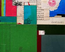 the truth letters, 2007, mixed media collage, 9 1/2 x 8""
