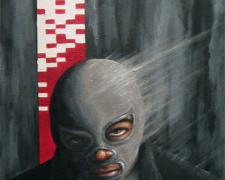 Identity, 2011, acrylic on oil on masonite, 16 x 12""
