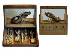 """Little Museum for Emerging Marrow, 2015, assemblage, 14 x 15 x 12"""""""