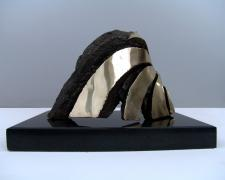 Walker, 2008 cast silicon bronze and granite base 9 x 9 1/2 x 13""