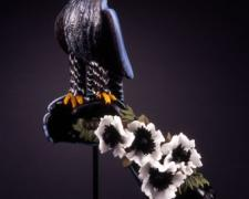 Anemone Falcon, 2005, hand-blown glass, 26 x 9 x 6""
