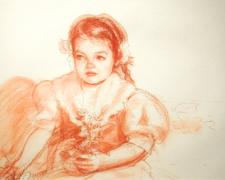 Young Faith, 2002, conte on paper, 13 1/2 x 19 1/2""