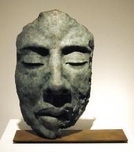 """Rostro III (Ojo Cerados) 2002 Bronze 14 1/4 x 12 1/4 x 6 3/4"""""""