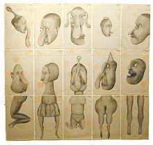 """Familia 2003 Graphite on paper 28 x 29 3/4"""""""