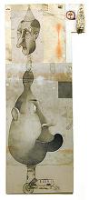 """Portrait of a Young Artist (Son) 2003 Mixed media on paper 33 x 13 1/2"""""""